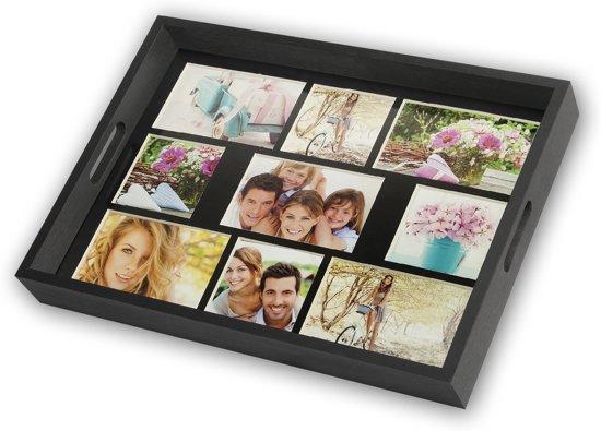 Collage fotolijst Dienblad Zwart 5x 10x15 4x 10x10 foto