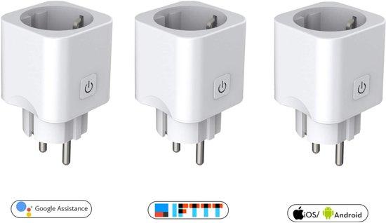 Slimme Stekker (Smart plug) - Google Home (Google Assistant) - 3 stuks van Zedar
