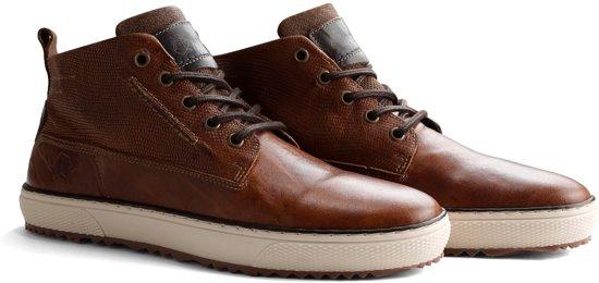 Hoge 43 deloup Cognac Leren J Nogrz Heren Maat Sneakers qwZgwC