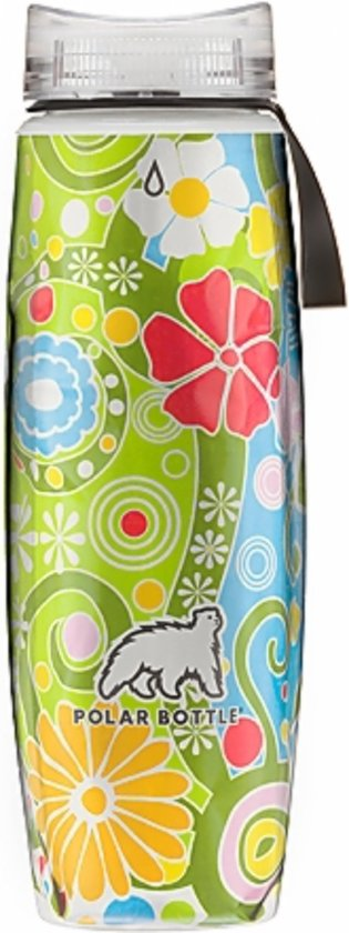 Polar Bottle geïsoleerde Drinkfles - 0,6l - Flower Candy