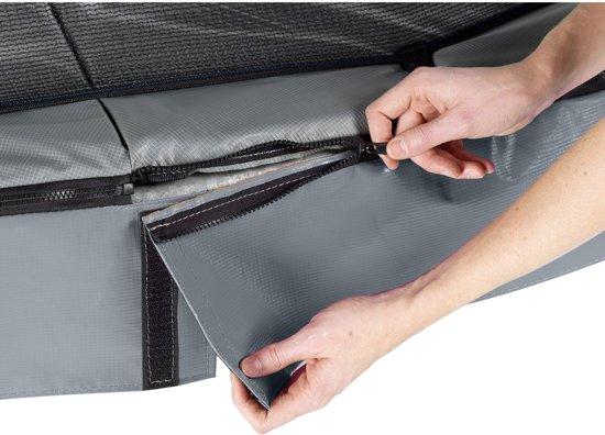 EXIT Elegant trampoline 214x366cm met veiligheidsnet Economy - grijs