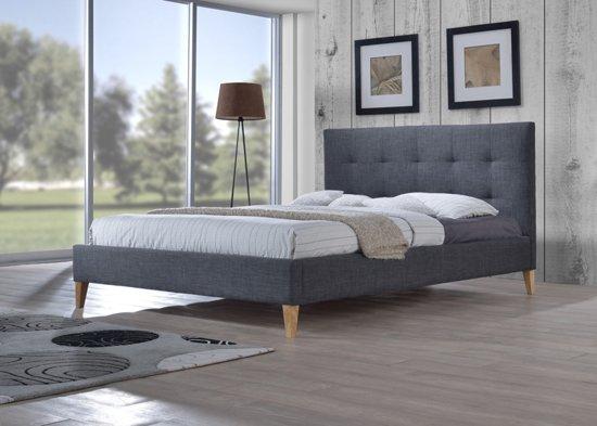 tweepersoonsbed mississippi grijs inclusief lattenbodem 160 x 200. Black Bedroom Furniture Sets. Home Design Ideas
