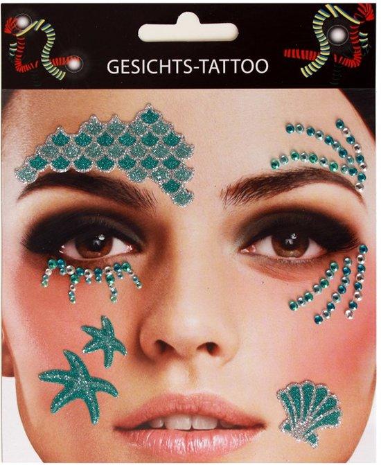 Face Art Sticker Gezicht Tattoo Zeemeermin