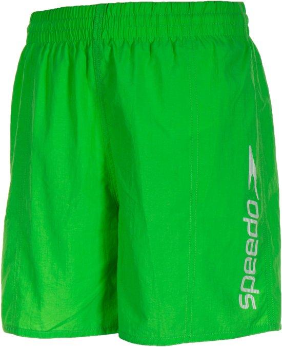 c74da46537542a Speedo Challenge 15  Zwemshort Junior Zwembroek - Maat M - Unisex - groen/ wit