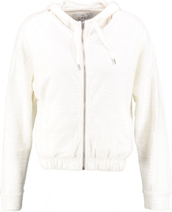 Only kort off white sweatvest - Maat XS