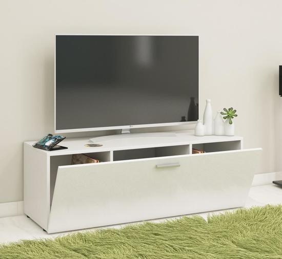 Verrassend bol.com | TV meubel kast Winalo met klepdeur wit JL-46
