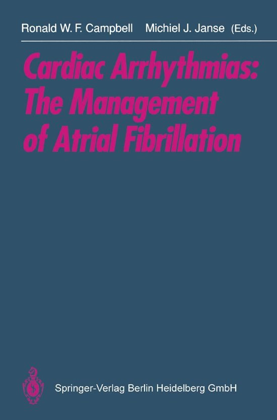 Cardiac Arrhythmias: The Management of Atrial Fibrillation