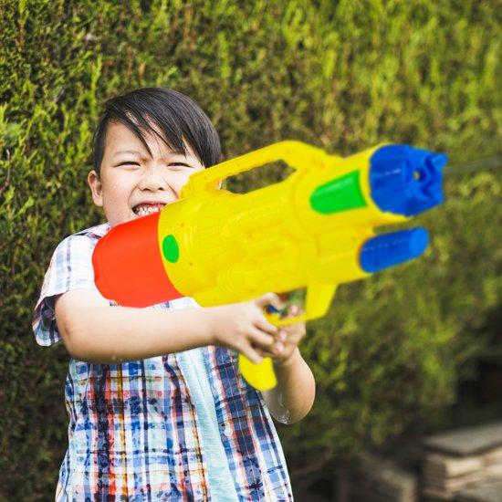 relaxdays waterpistool XXL - super soaker kinderen - waterkanon - water pistool - 1.8 L