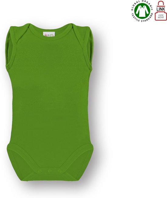 Link Kidswear baby romper mouwloos - Lime groen - Maat 74/80