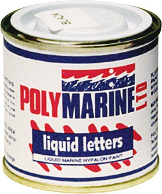 Liquid Letter Verf Hypalon Zwart