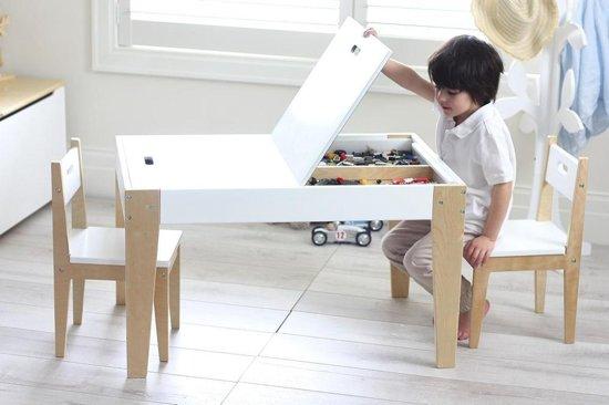 Tafel Met 2 Stoelen Kinderen.Beboonz Storage Kindertafel En 2 Stoeltjes