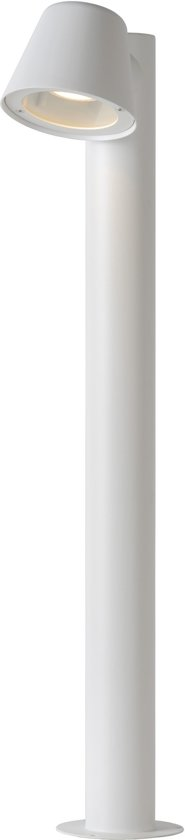Lucide DINGO-LED - Sokkellamp Buiten - LED Dimb. - GU10 - 1x5W 3000K - IP44 - Wit