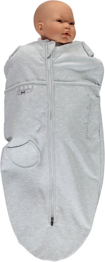 Puckababy Mini Inbakerslaapzaki 3-6 mnd - Grey Dotty