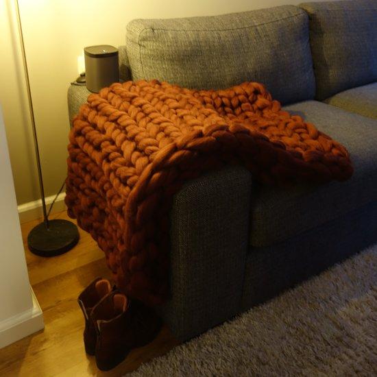 508130b0b3c986 ... MELANGE OUDGROEN Wollen deken - woondeken - plaid handgemaakt van XXL  merino wol 100 x 150 ...