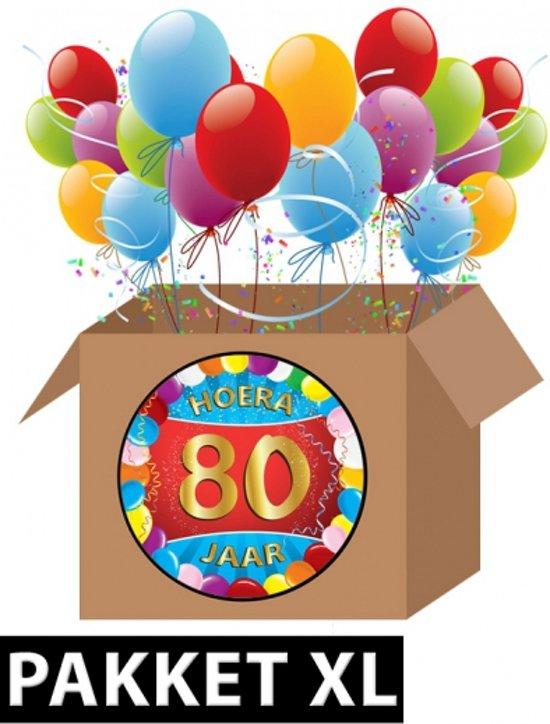 afbeelding 80 jaar bol.  80 jaar versiering voordeel pakket XL, Fun & Feest Party  afbeelding 80 jaar