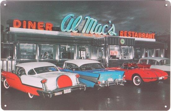 Metalen plaatje - Diner Al Mac's-