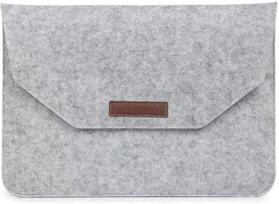 febb750dac7 Mattee Vilten MacBook Sleeve 13-inch (Lichtgrijs)