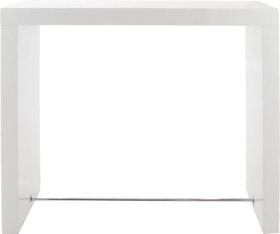 Hoogglans Wit Bartafel.Bol Com 24designs Hoge Bartafel Cube L130 X B60 X H105 Cm Wit