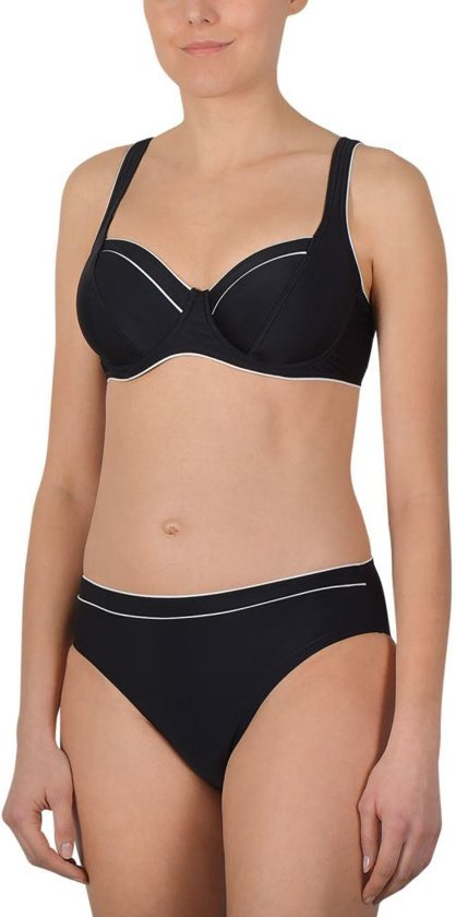 Naturana beugel Badgoed d46 Bikini wit 72360 zwart sdCthrQxB