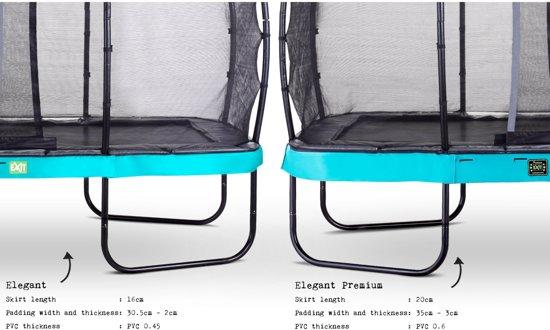 EXIT Elegant Premium trampoline 244x427cm met veiligheidsnet Deluxe - blauw