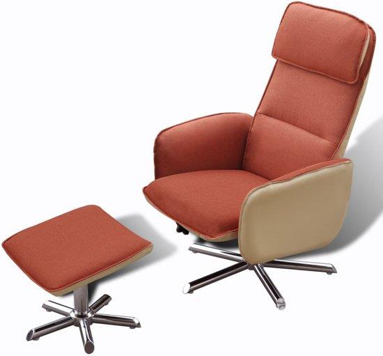 Comfortabele fauteuil voetenbankje oranje wonen - Comfortabele fauteuils ...