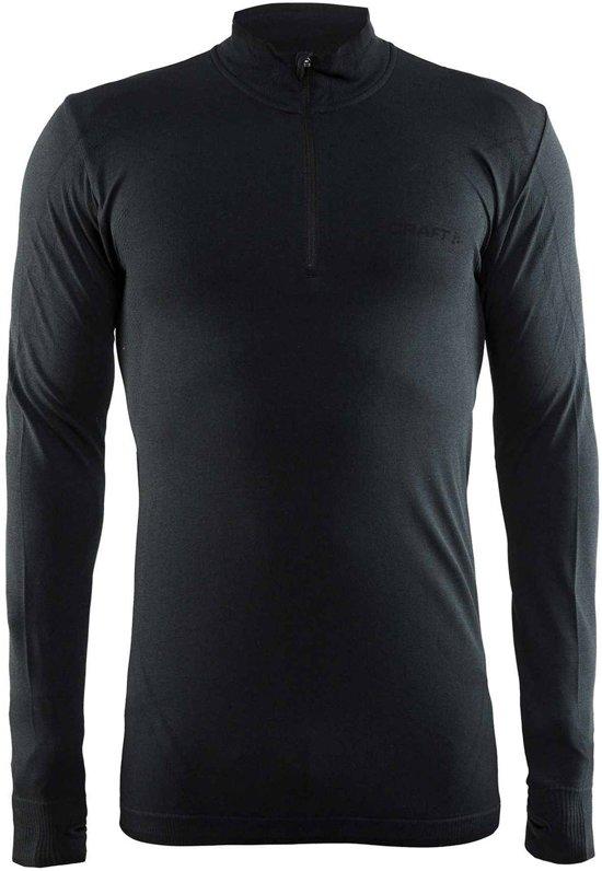 Craft Active Comfort Zip Sportshirt Heren - Black Solid