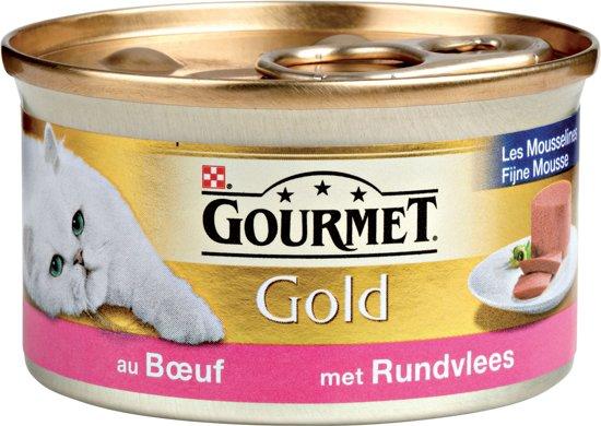 Gourmet Gold Mousse - Rund - Kattenvoer - 24 x 85 g