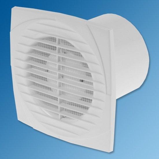 bol.com | Ventilator, axiaal 150, met timer en vochtsensor, wit ...