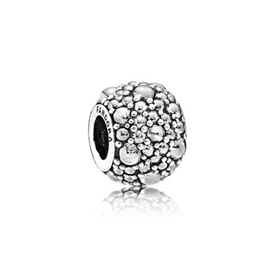 Silver charm with clear cubic zirconia 791755CZ