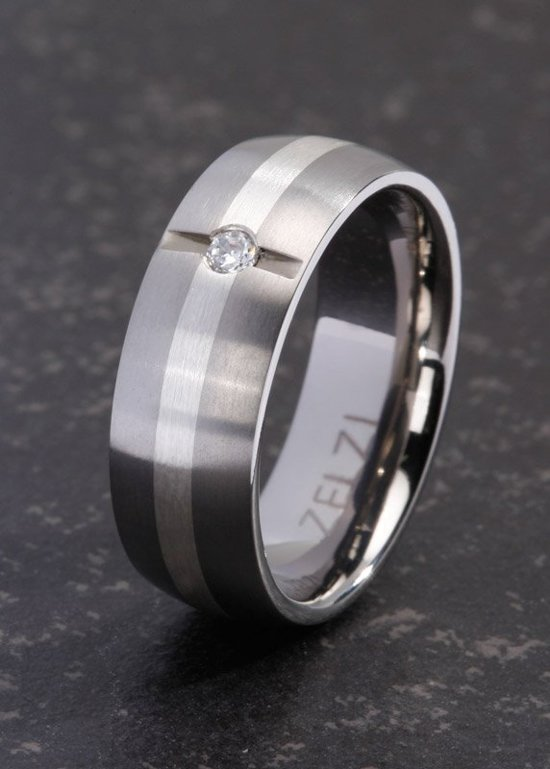 ZELZI Titanium ring: Aspasia 24 millimeter