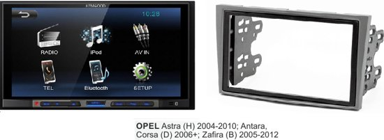 Opel Astra (H) 2004 - 2010  (zilver) kenwood autoradio met bluetooth