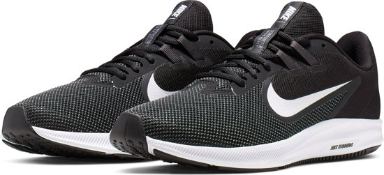 Nike Downshifter 9 Sportschoenen Heren - Black/White-Anthracite-Cool Grey