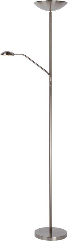 Lucide ZENITH - Vloerlamp - Ø 24,5 cm - LED Dimb. - 1x20W 3000K - Mat chroom