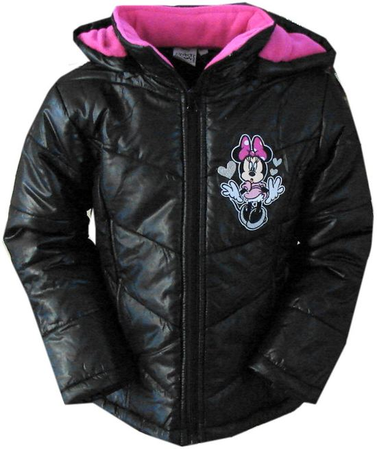 Winterjas Kleur.Bol Com Minnie Mouse Winterjas Kleur Zwart Roze Maat 98
