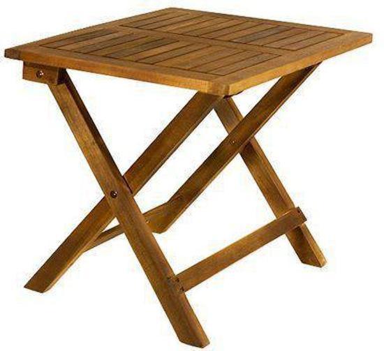 eezylife tuintafel houten bijzettafel tuintafel acacia hout 46x46x46cm. Black Bedroom Furniture Sets. Home Design Ideas