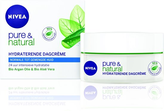 NIVEA Pure & Natural Hydraterend Dagcrème - 50 ml