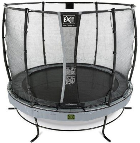 EXIT Elegant Premium trampoline ø427cm met veiligheidsnet Economy - grijs