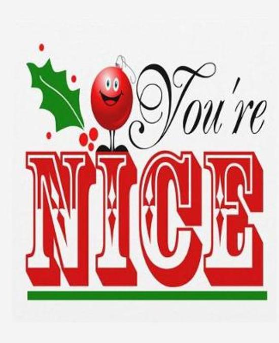 Cute Christmas Message You're Nice School Comp Book 130 Pages
