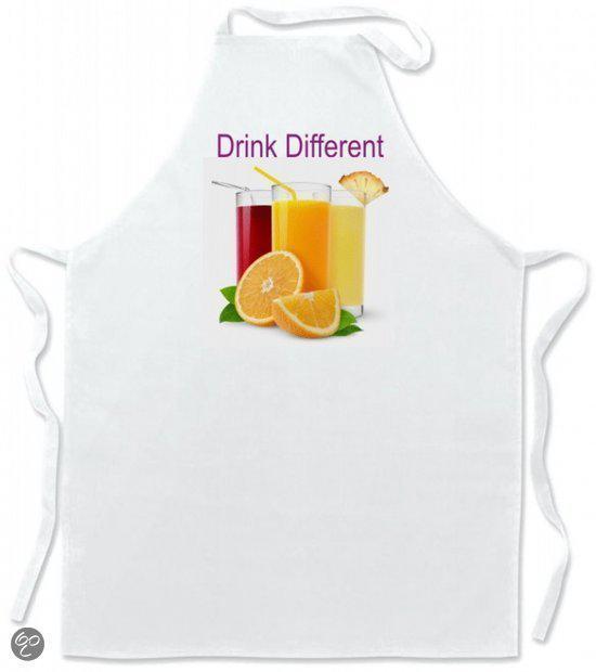 Mijncadeautje Schort Leuke keukenschort Drink different