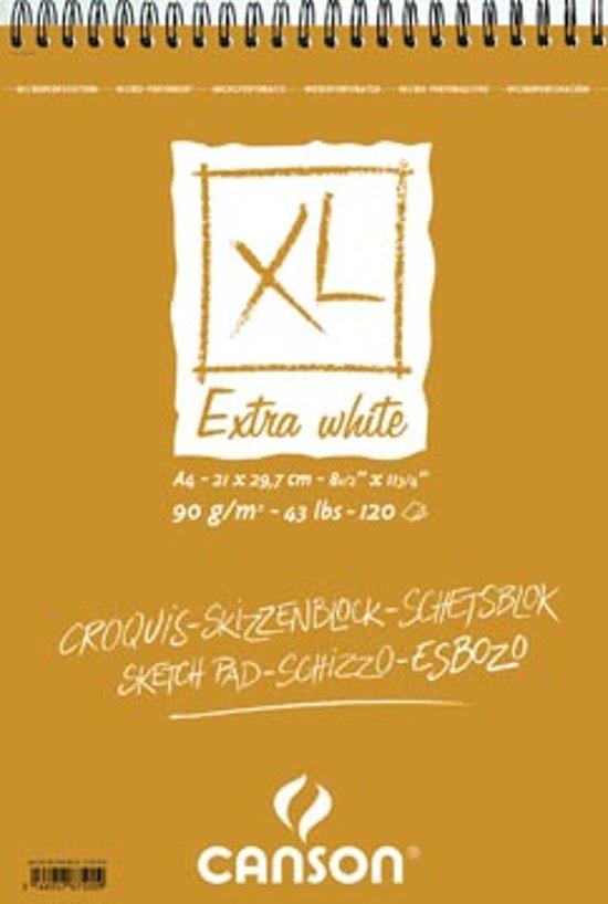 bol | canson schetsblok xl extra white formaat 21 x 297 cm (a4)