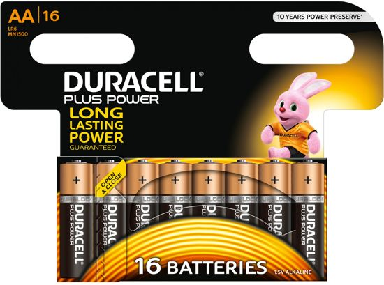 Duracell AA Plus Power - 16 stuks