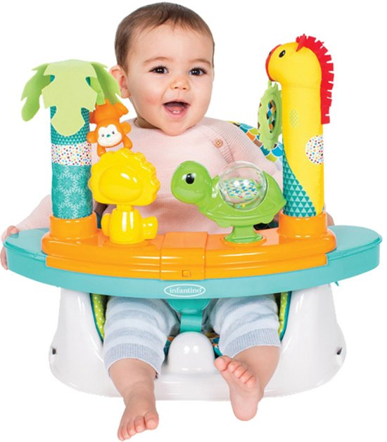 Hoge Eetstoel Baby.Infantino Grow With Me Speel En Eetstoel Om Op Gewone Stoel Te Bevestigen