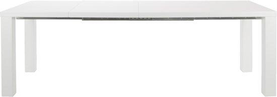 24Designs Spector - Tafel - Uitschuifbaar - L120/240 x B80 x H76 cm - Hoogglans Wit
