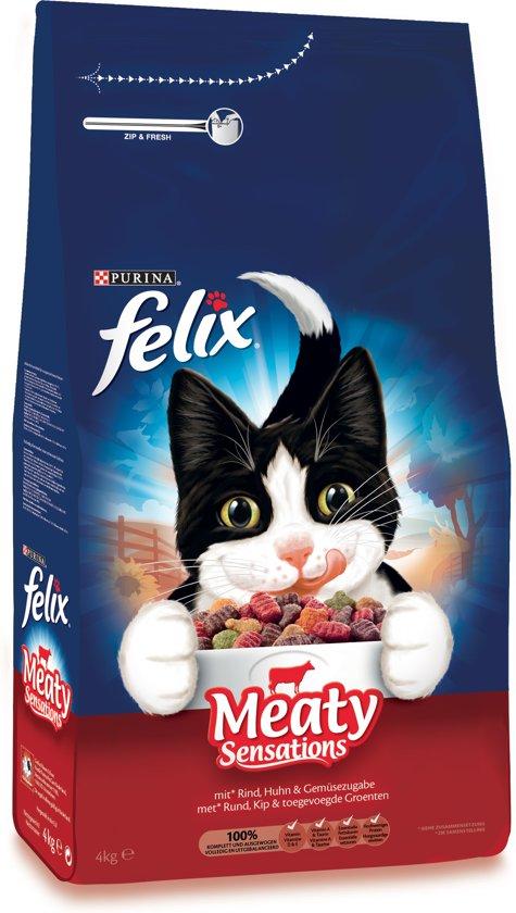 Felix Meaty Sensations - met Rund, Kip & toegevoegde Groenten - kattenvoer -  4 kg
