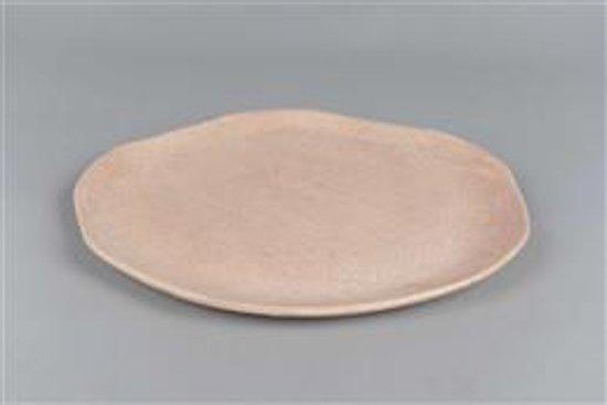 Rasteli - Plate - Schaal - Dienblad - Roze - Oud roze - Craquele