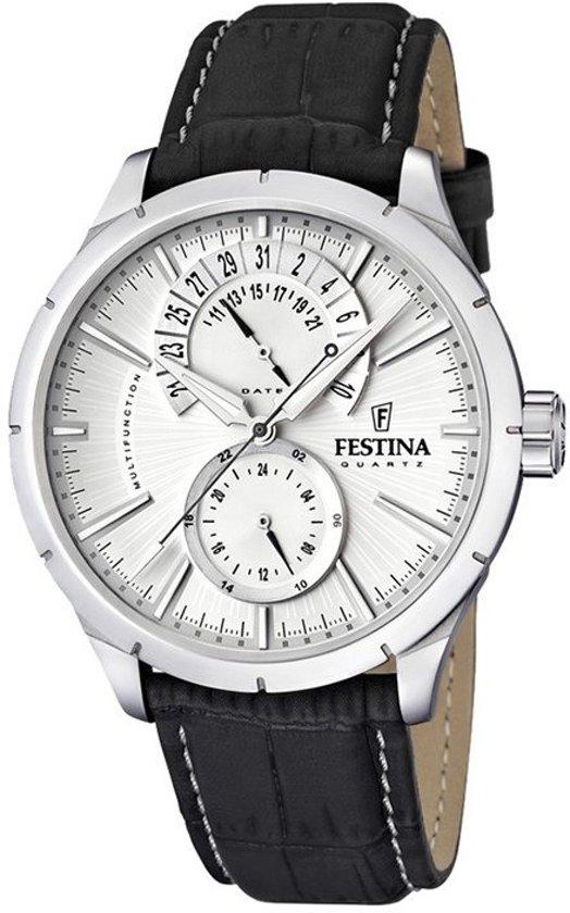 Festina F16573/1 horloge heren - zwart - edelstaal
