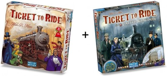 Spel - Ticket to Ride USA met uitbreiding Map Collection - UK/Pennsylvania - Combi Deal