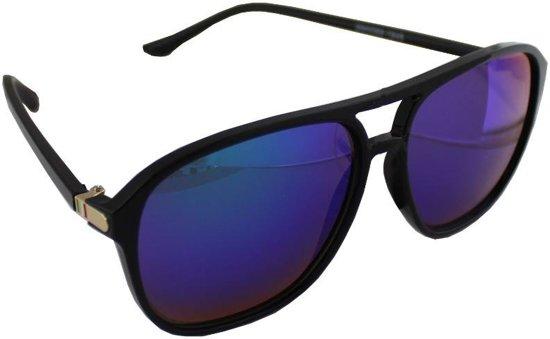 036623bdde7155 Zonnebril UV 400 Aviator Zwart Meerkleurig Blauw