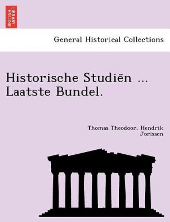 Historische studie n laatste bundel