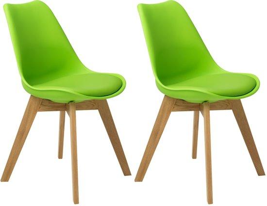 Bol.com butik living consilium valido stoel groen set van 2